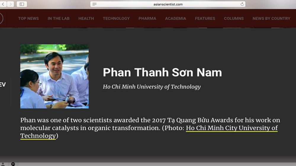Hai tiến sĩ Việt lọt top 100 nhà khoa học hàng đầu châu Á 2018